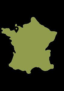 Carte de France et Saint-Méloir-des-Ondes